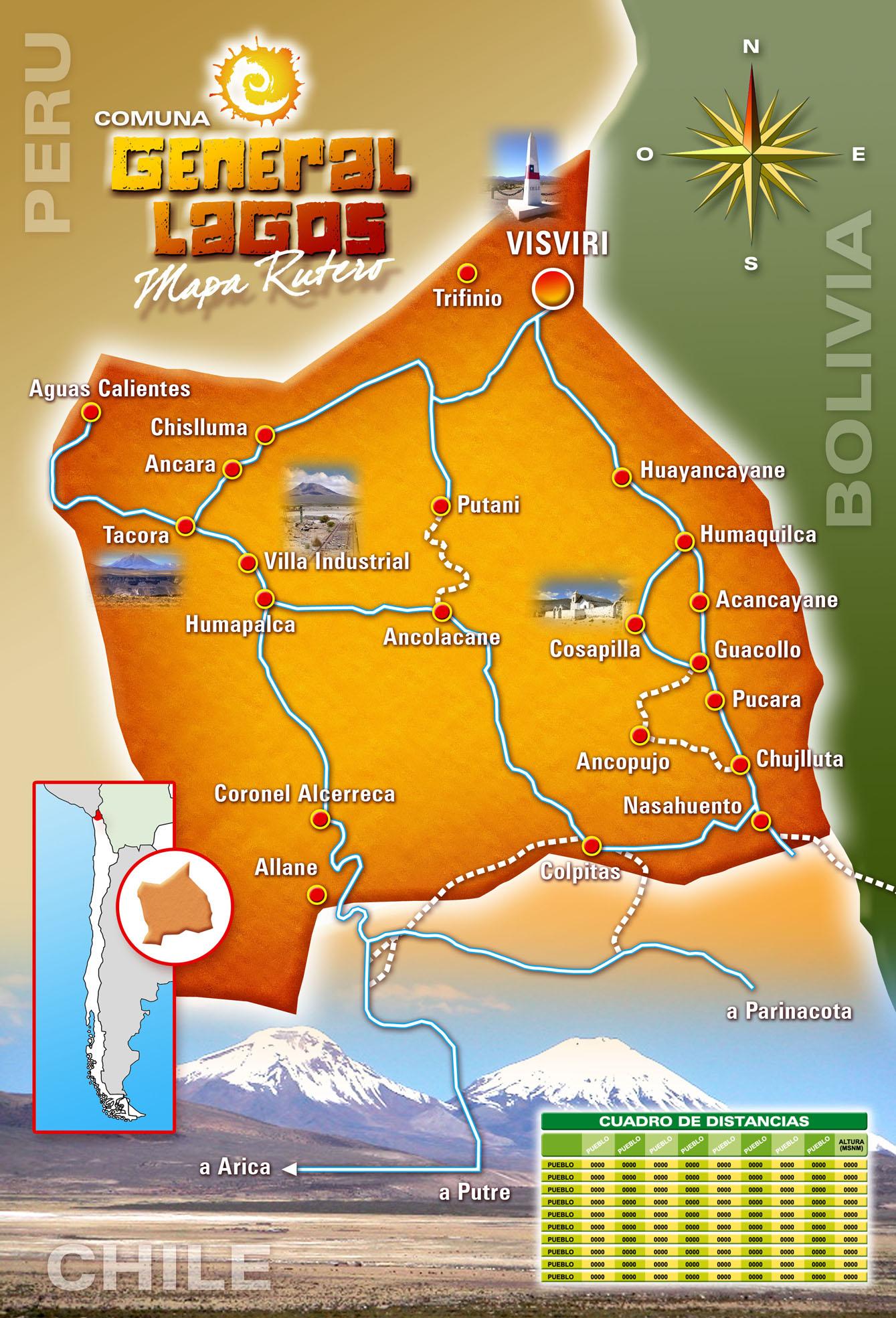Resultado de imagen de mapa rutero visviri